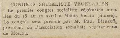 Le Quotidien, 28. März 1916.