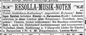 Anzeige von M. Engelmann.